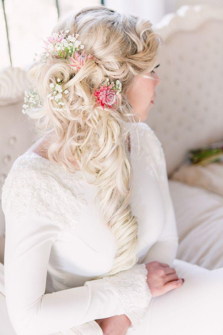 Floral Ponytail | Joyous Jewel Tone Winter Wedding