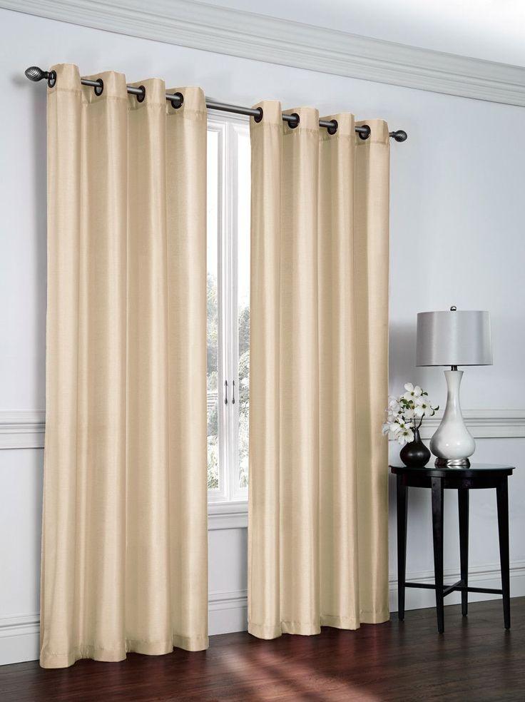Solid Sheer Grommet Curtain Panels