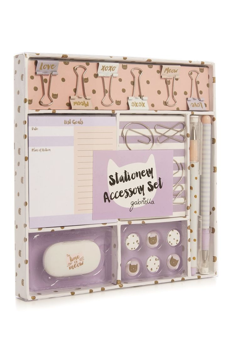 Gabriella Cat Stationery Set