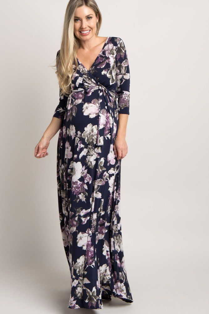 aec9a8d520732 An essential to the modern mom, this floral sash tie maternity dress will  guarantee a comfy and stylish look for transitioning through the seasons.