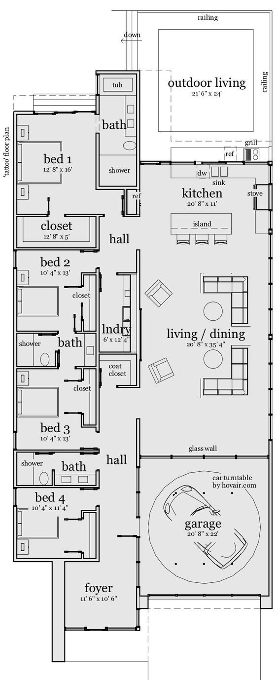 DanTyree.com an excellent budget minded plan. the bath near the entry can be deepened 4 universal access. then ur good 2 go. I don't know why all bathrooms intended 4 guest use aren't built 4 those who might be in chairs. not nice.: