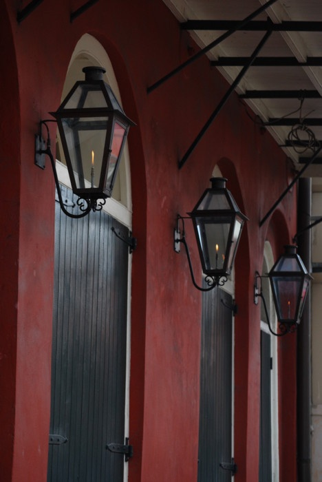 gas lanterns in the french quarter. Black Bedroom Furniture Sets. Home Design Ideas