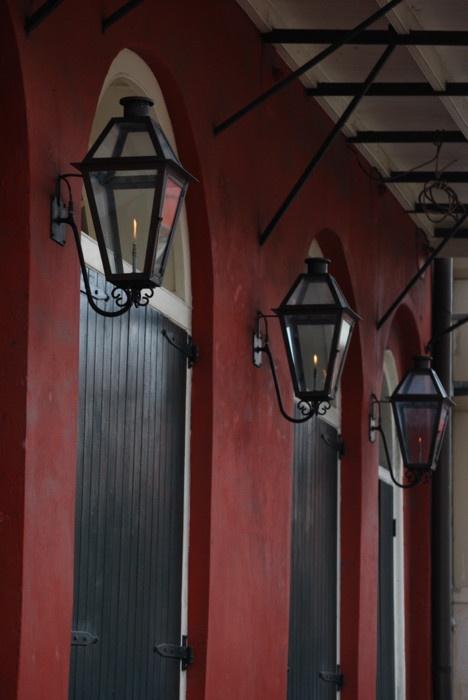 gas lanterns in the french quarter. Black Bedroom Furniture Sets. Home Design Ideas