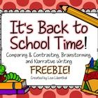 """I+hope+you+enjoy+this+Back+to+School+freebie!  Included+are:  ~""""This+year,+I'm+looking+forward+to…""""+brainstorming+web ~Venn+Diagram+for+comparing+"""