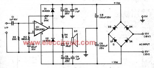 tda2030 audio amplifier circuits