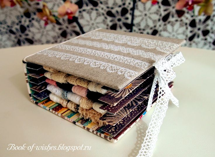Idea for a DIY book which also hold a lace/ribbon collection for storage from Assorti Gallery 2: Книга кружев