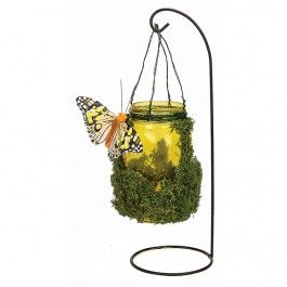 Nicole™ Crafts Small Yellow Mason Jar Garden Light