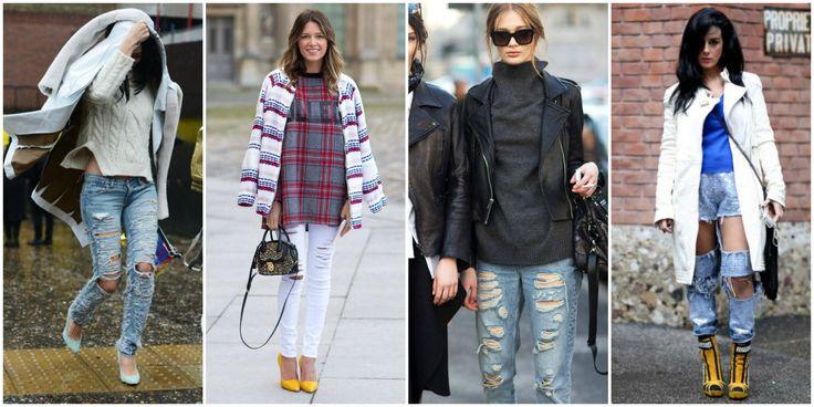 Yırtık Jean Modası 2015 - Kadın Moda Trendleri, Güzellik Sırları, Giyim & Aksesuar ModaStilisti.Com