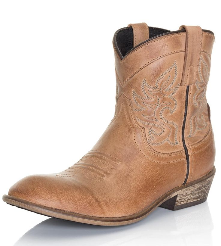 Dingo Womens Willie Ankle Cowboy Boots - Antique Tan $89.95