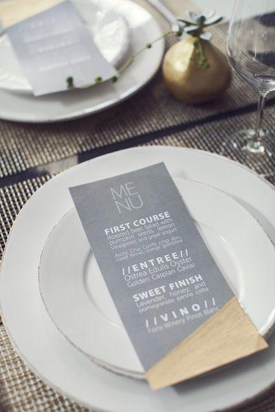Modern and Minimalist Wedding Menu Card   Photos by Studio Uma   Camille Styles