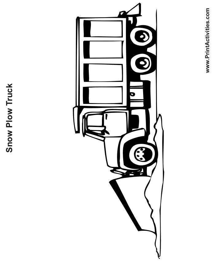 1000 ideas about snow plow on pinterest ford tractors for Snow plow coloring pages