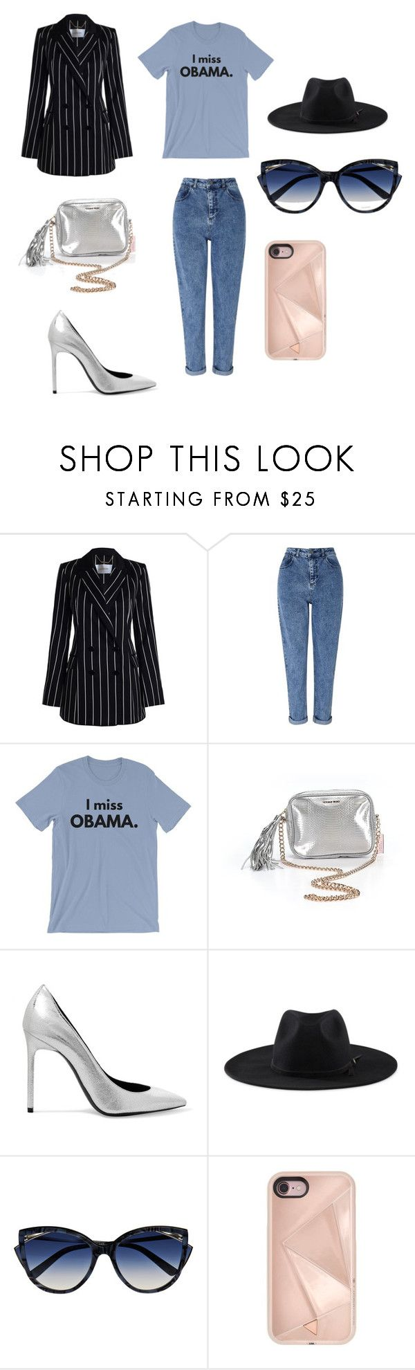"""trying to be edgy"" by chloeevans-2 ❤ liked on Polyvore featuring Zimmermann, Miss Selfridge, Victoria's Secret, Yves Saint Laurent, Goorin, La Perla and Rebecca Minkoff"