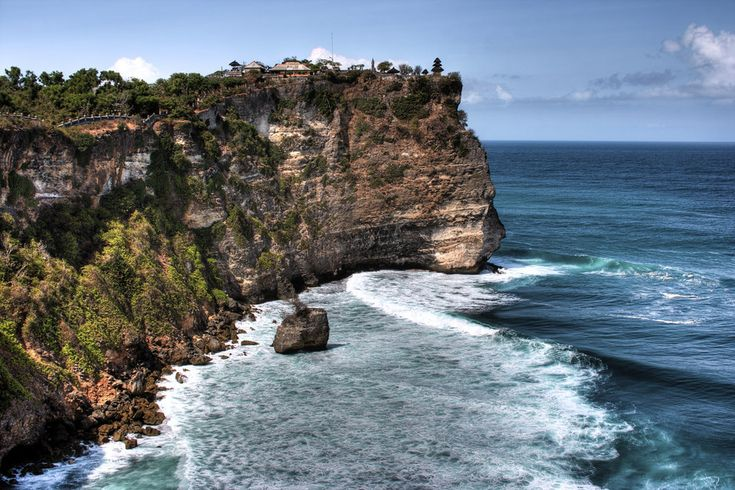 And the Uluwatu temple, also in Bali.