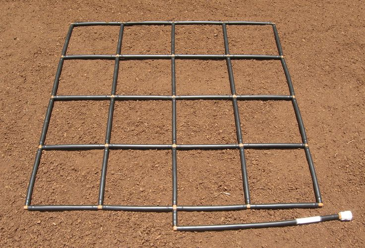 Garden irrigation system & planting grid in one. The 4x4 Garden Grid™ instantly gives you a ground level garden irrigation system & equal planting sections.