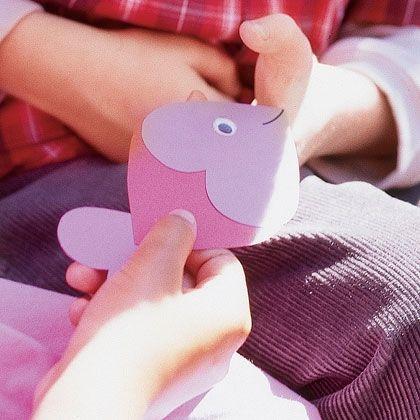 """Valentine activities: Cute """"Guppy Love"""" valentine craft."""