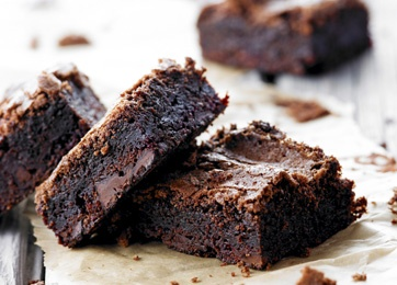 Rødbede/chokoladekage...  Jeg udskifter smør m. æblemos