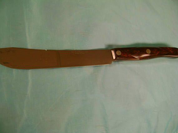 Cutco Butcher Knife Vintage 1722 Like New Heavy Sturdy