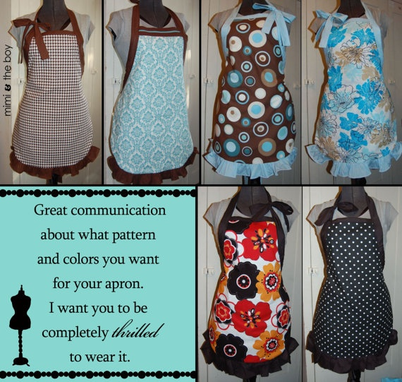 Reversible Aprons - love the idea.  I'd like to make mine more fitted/tailored.