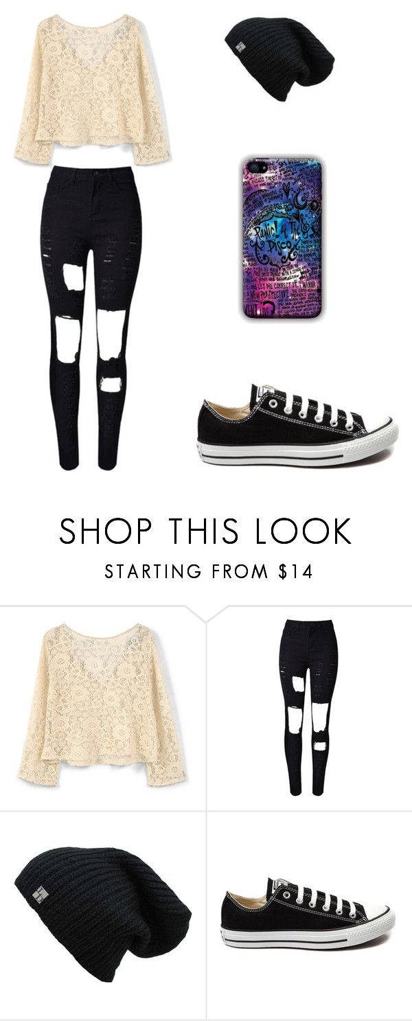 """""""Sin título #156"""" by karenrodriguez-iv on Polyvore featuring moda, MANGO, WithChic y Converse"""