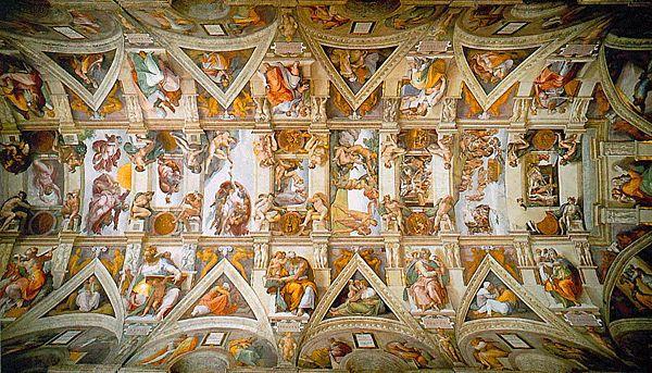 Michel-Ange, Voûte de la Chapelle Sixtine, Rome