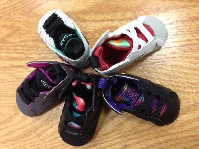 new arrival 6f311 489ea infant air jordan retro 7 crib shoes for sale