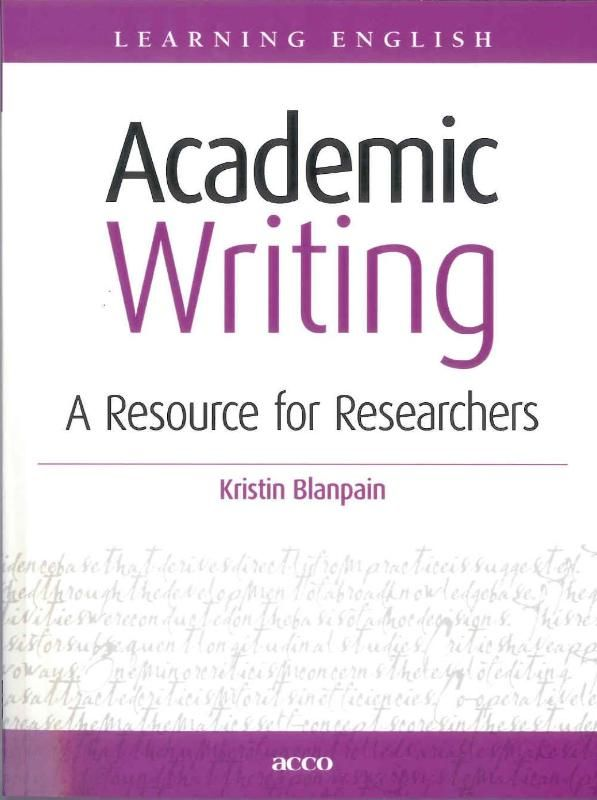 Academic writing Academic Writing assists new and established researchers in the process of writing and editing English texts. Its objectives are threefold: - to give GUIDELINES for using academic style and language and for writing specific academic genres such as abstracts research proposals and especially research articles; - to provide a wide range of vocabulary and grammar RESOURCES for practice and consultation; - to teach learners STRATEGIES for improving and editing their own writing…