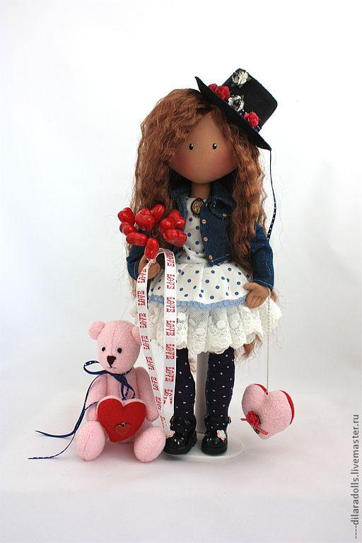 Человечки ручной работы. Ярмарка Мастеров - ручная работа текстильная кукла LOVE IS ......... Handmade.