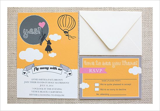 flyaway Free customizable wedding invitations and rsvp cards