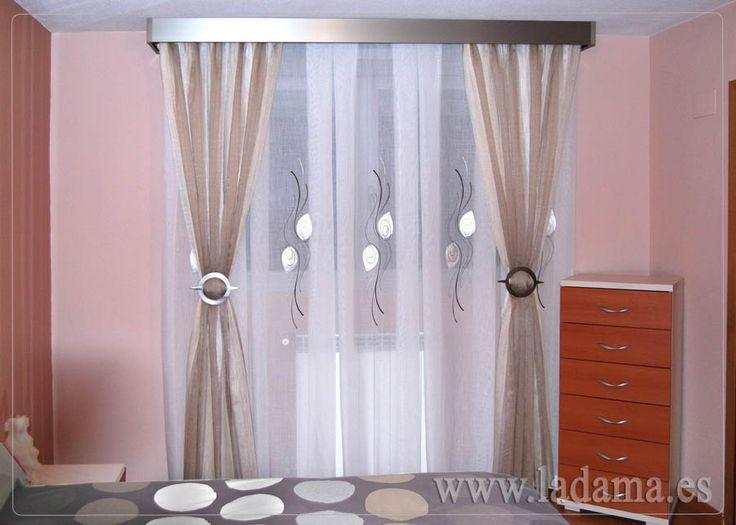 M s de 25 ideas incre bles sobre cortineros de madera en pinterest puertas baratas - Cortinas baratas zaragoza ...