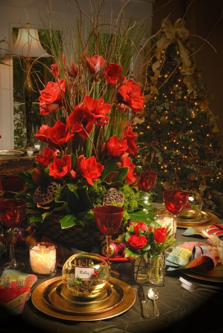 1106 best christmas table decorations images on pinterest for Christmas decoration 94