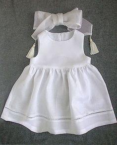 Tutorial Vestido de bautizo de niña ~ A coser patrones y más