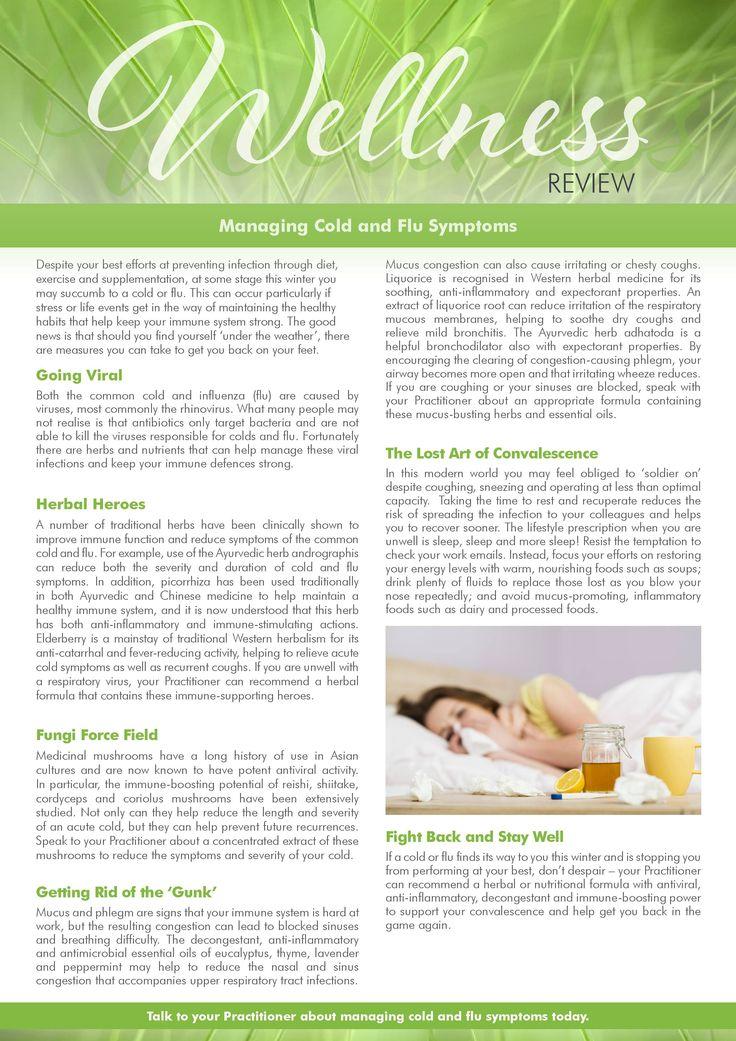 Managing cold and flu symptoms