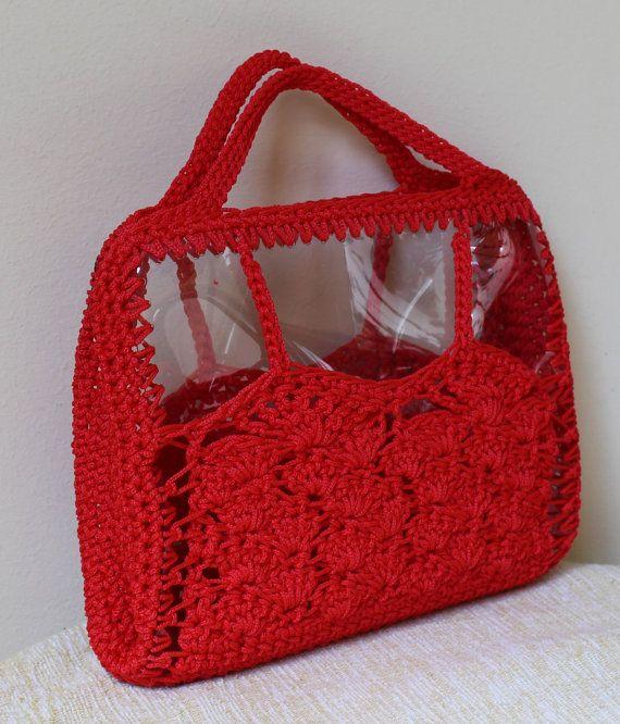 Red handmade bag Summer bag Summer trends Red by MariliartbyM