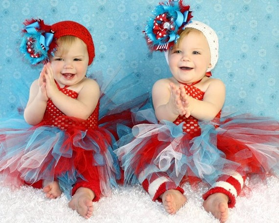 Not the head bands b/c they are as big as their heads.  but the tutus and leggings are precious!