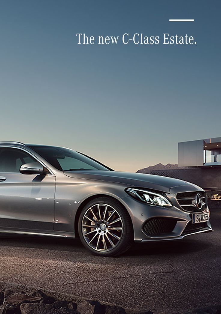 A vital, sporty aura. A clear, defined rear. And captivating styling. The new Mercedes-Benz C-Class Estate is one thing above all: spacious in every respect, having become noticeably bigger.