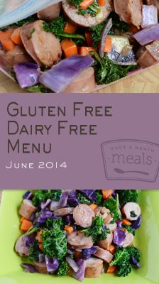 Gluten Free Dairy Free June 2014 Menu | Once A Month Meals | Freezer Meals | Freezer Cooking | Gluten Free | Dairy Free | Celiac Meals