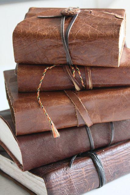 Leather-bound Handmade Journals by noriko.stardust, via Flickr