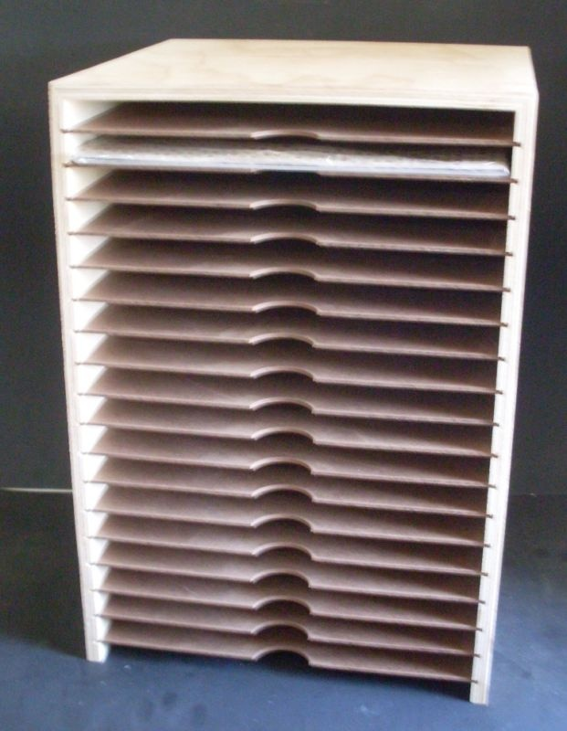 scrapbooking paper storage 19 12x12 cardstock 18 slots. Black Bedroom Furniture Sets. Home Design Ideas