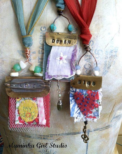 Fun Art Quilt Pendants | Flickr - Photo Sharing!