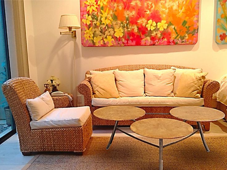 Bright Living Room And Sitting Area With Shades Of Yellow, Orange And White