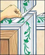 Guide for Mitering Wallpaper Border Corners at The Home Depot