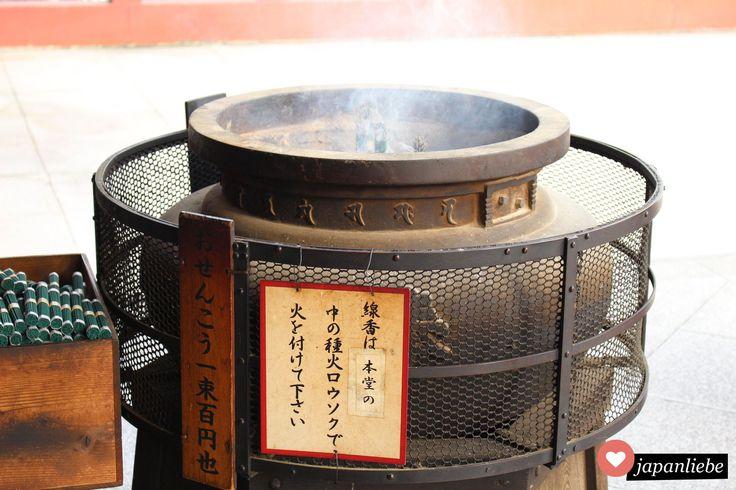 Räucherstäbchen am Ōsu Kannon Tempel
