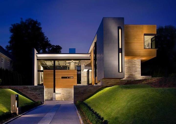 Modern split level residential house split level for Modern split level house