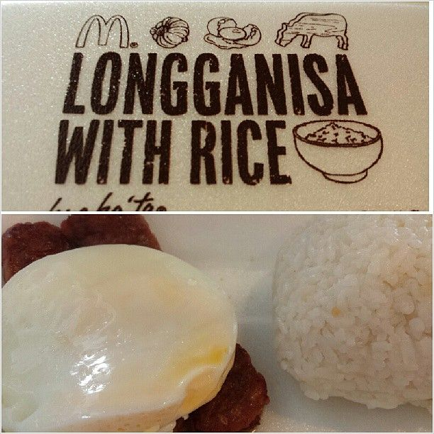 #mcdo #breakfast #longganisa #sunnysideup w/ #rice with  wifey:-) #mcdonalds #food #yummy #philippines カミさんと #朝マック #ロンガニーサ #ライス #朝ごはん
