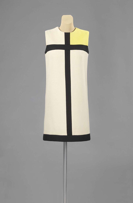 Mondriaanjurk, Yves Saint Laurent, Abraham, Bianchini-F�rier, 1965