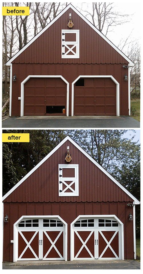 159 best images about before and after exterior makeovers for Best windows for a garage