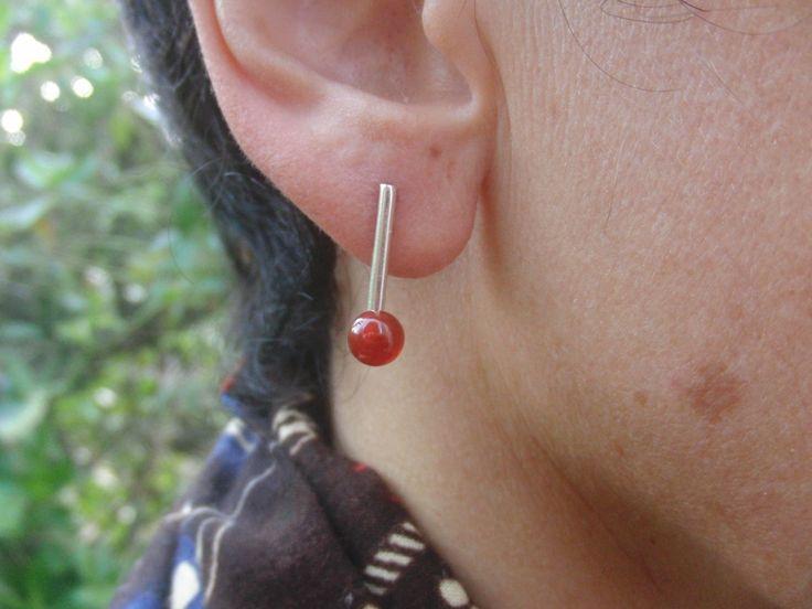 Carnelian Jewelry, Carnelian Earrings, Silver Earrings, Gift For Her, Gift for Mom, Gift for Best Friend,Gift for Girlfriend,Bridesmaid gift http://etsy.me/2Ec5UIg #jewelry #earrings #silver #carnelianjewelry #carnelianearrings #silverearrings #giftforher #giftformom #
