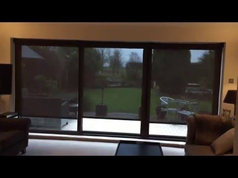 Electric Battery Operated Roller Blinds For Bifold Doors - The Electric Blind Company