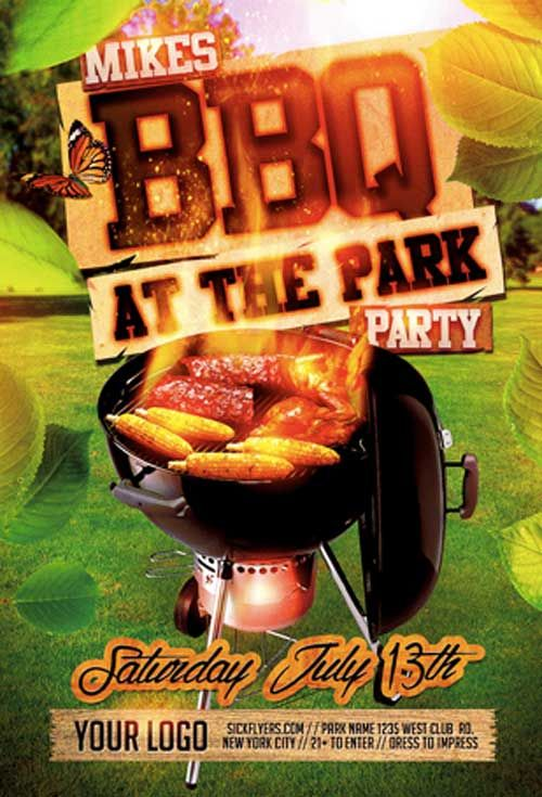 summer bbq flyer template grilling ads pinterest home