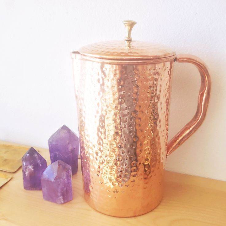 Would your love for copper kitchen flair grow even more if you knew there were amazing health benefits beyond the aesthetics? I was jumping up and down when I learned you can increase your health just by drinking water from this beautiful @shantivashop pitcher everyday! Here is a sneak preview of what you can expect: Improves digestive system + supports weight loss + keeps skin healthy + brain stimulant + much more. Drinking water has never tasted or felt so good! Visit their website to…